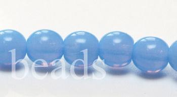 0844d0f727b Ümar klaashelmes 6 mm läbikumav hele safiir, 10 tk